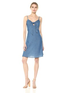 Lucca Couture Women's Vivian Front Tie Cami Dress  Extra Small