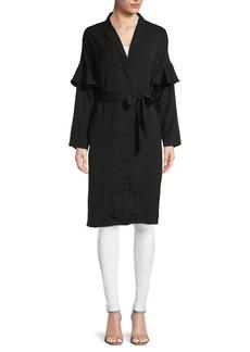 Lucca Couture Miriam Ruffle-Sleeve Shirtdress