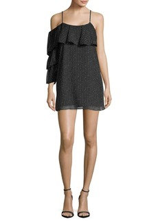 Lucca Couture Polka-Dot Ruffled Dress