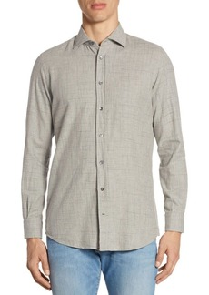 Luciano Barbera Beaded Stripe Cotton Sportshirt
