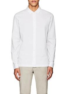 Luciano Barbera Men's Cotton Long-Sleeve Polo Shirt