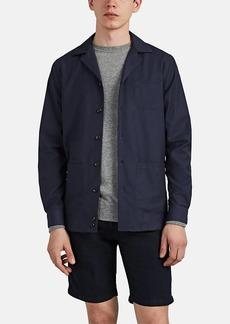 Luciano Barbera Men's Cotton-Wool Canvas Shirt Jacket