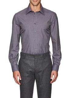 Luciano Barbera Men's Micro-Checked Cotton Poplin Shirt