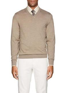 Luciano Barbera Men's Mélange Wool V-Neck Sweater