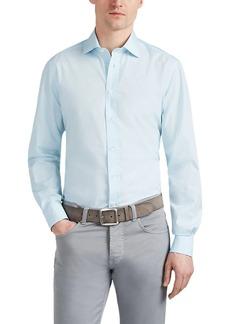 Luciano Barbera Men's Striped Cotton Poplin Shirt