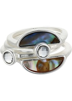 Lucky Brand Abalone Stack Ring Set