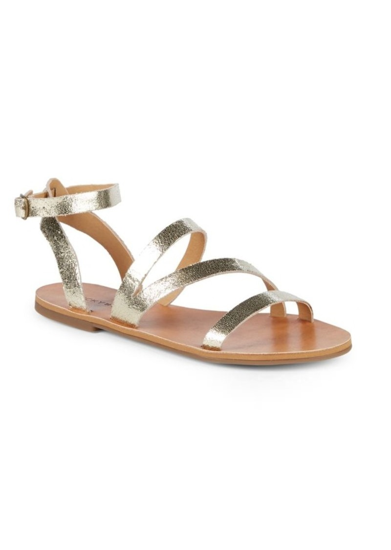 Lucky Brand Andies Ankle-Strap Leather Sandals