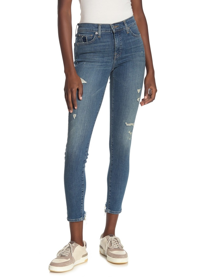 Lucky Brand Ava Distressed Crop Super Skinny Jeans