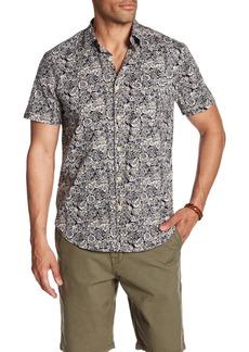 Lucky Brand Ballona Floral Short Sleeve Regular Fit Shirt