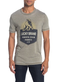 Lucky Brand Bear Burnout Graphic Logo T-Shirt