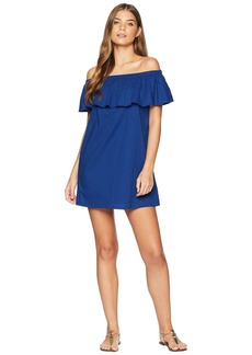 Lucky Brand Belle-Air Off the Shoulder Ruffle Dress Cover-Up