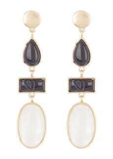 Lucky Brand Black Agate & White Mother of Pearl Earrings
