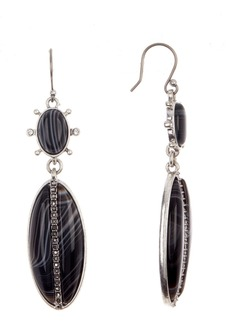 Lucky Brand Black Agate Stone Drop Earrings