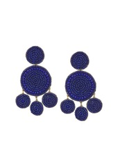 Lucky Brand Blue Beaded Statement Earrings