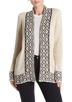 Lucky Brand Border Print Cardigan