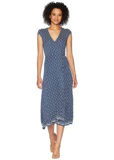 Lucky Brand Border Print Maxi Dress