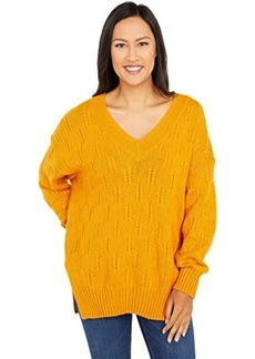 Lucky Brand Braided Stitch Pullover