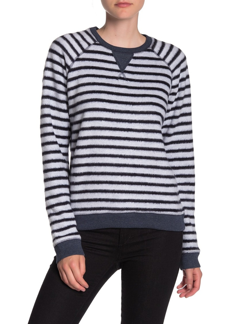 Lucky Brand Brushed Stripe Raglan Sleeve Pullover
