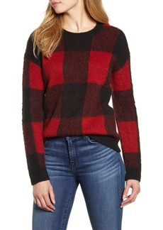 Lucky Brand Buffalo Check Pullover Sweater