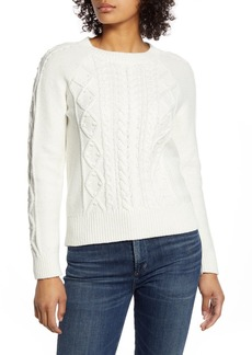 Lucky Brand Cable Knit Crew Neck Sweater