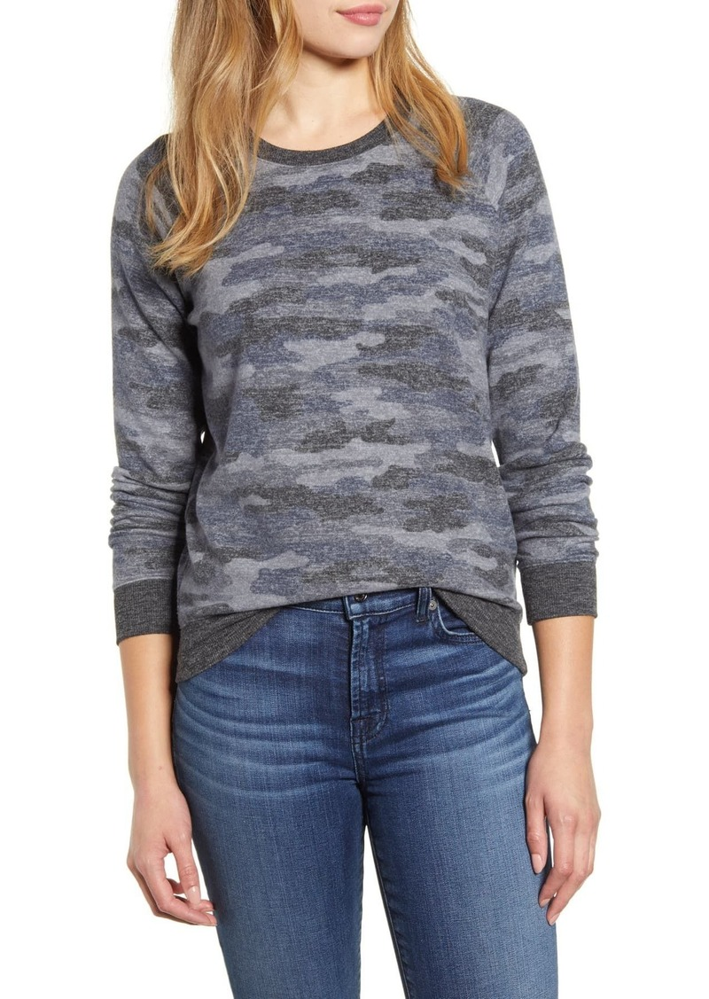 Lucky Brand Camouflage Crew Neck Sweater