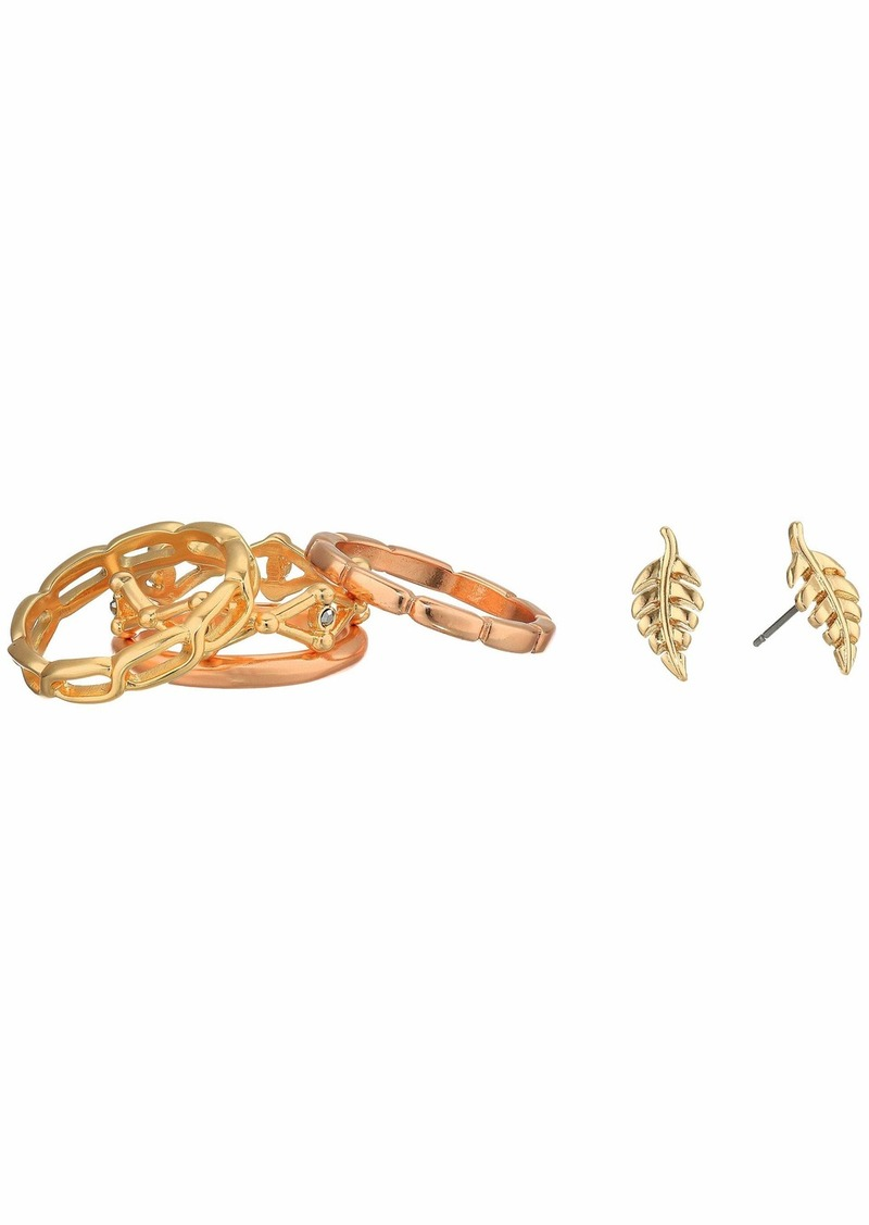 Lucky Brand Chain Ring and Earrings Set