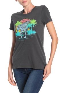 Lucky Brand Cheetah Print Crew Neck T-Shirt
