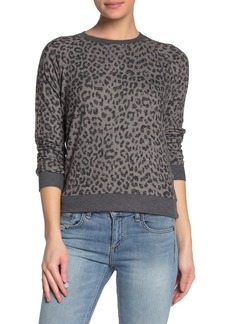 Lucky Brand Cheetah Print Knit Sweater