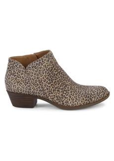 Lucky Brand Cheetah-Print Suede Booties