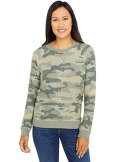 Lucky Brand Cloud Jersey Camo Crew Pullover