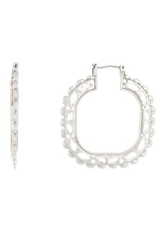 Lucky Brand Compass Hoop Earrings