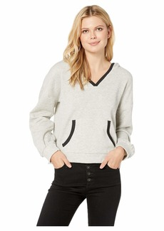 Lucky Brand Contrast Trim Hooded Sweatshirt