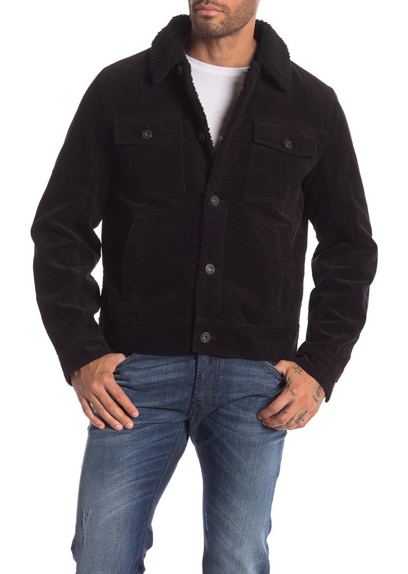 Lucky Brand Corduroy Faux Fur Jacket