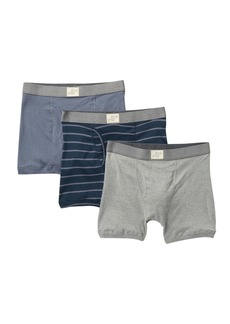 Lucky Brand Cotton Boxer Briefs - Pack of 3