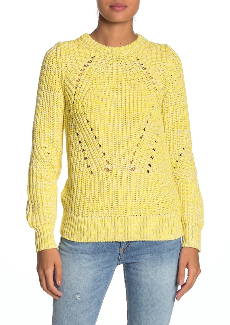 Lucky Brand Crew Neck Knit Sweater
