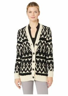 Lucky Brand Diamond Fair Isle Cardigan Sweater