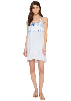 Lucky Brand Dip into Blue Swing Dress Cover-Up with Keyhole Back
