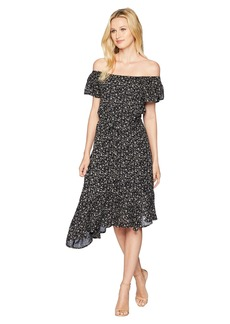 Lucky Brand Ditsy Asymmetrical Dress