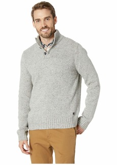 Lucky Brand Donnegal Button Mock Neck Sweater
