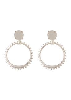 Lucky Brand Druzy Dangle Spike Hoop Earrings