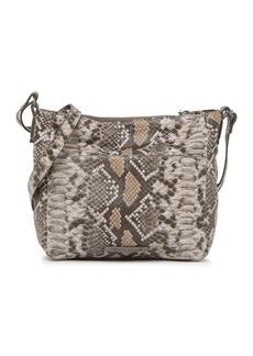 Lucky Brand Eddo Snake-Print Leather Crossbody Bag