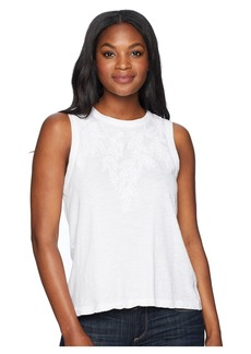 Lucky Brand Embroidered Leaf Tank Top