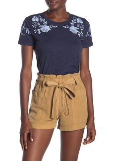 Lucky Brand Embroidered Shoulder T-Shirt