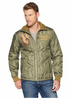 Lucky Brand Embroidered Triumph Tiger Jacket