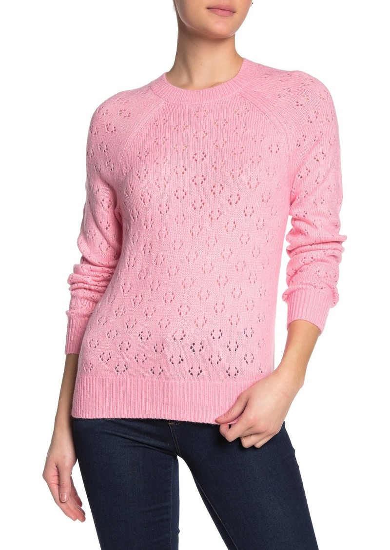 Lucky Brand Emily Pointelle Pullover Sweater