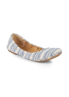 Lucky Brand Emmie Striped Woven Ballet Flats