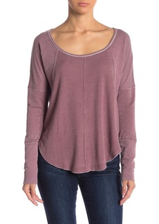 Lucky Brand Exposed Seam Thermal Pullover