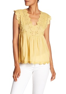 Lucky Brand Eyelet Tank Top
