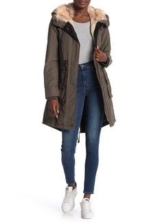 Lucky Brand Faux Fur Lined Parka