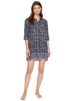 Lucky Brand Flannel Button Down Sleepshirt